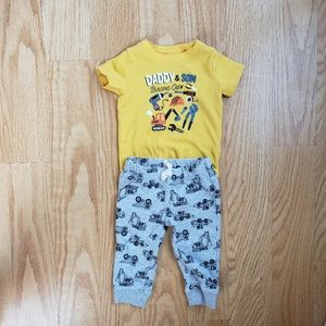 Daddy and Son Building Crew Outfit